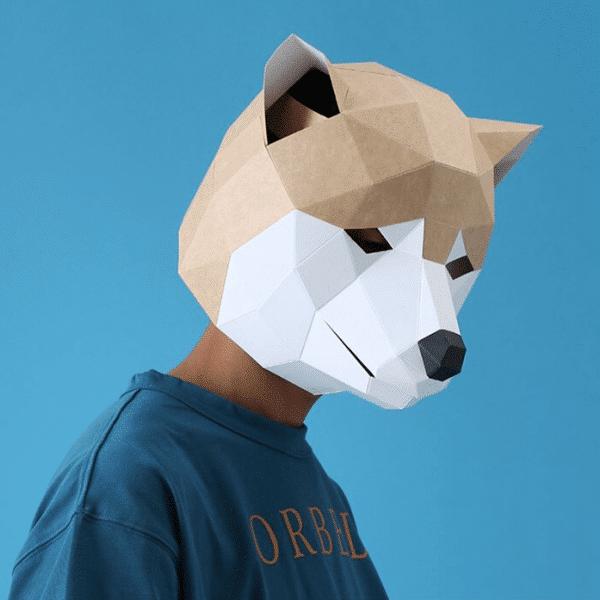 מסכת ראש אוריגמי - אקיטה