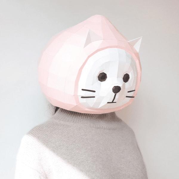 מסכת ראש אוריגמי - קיטי